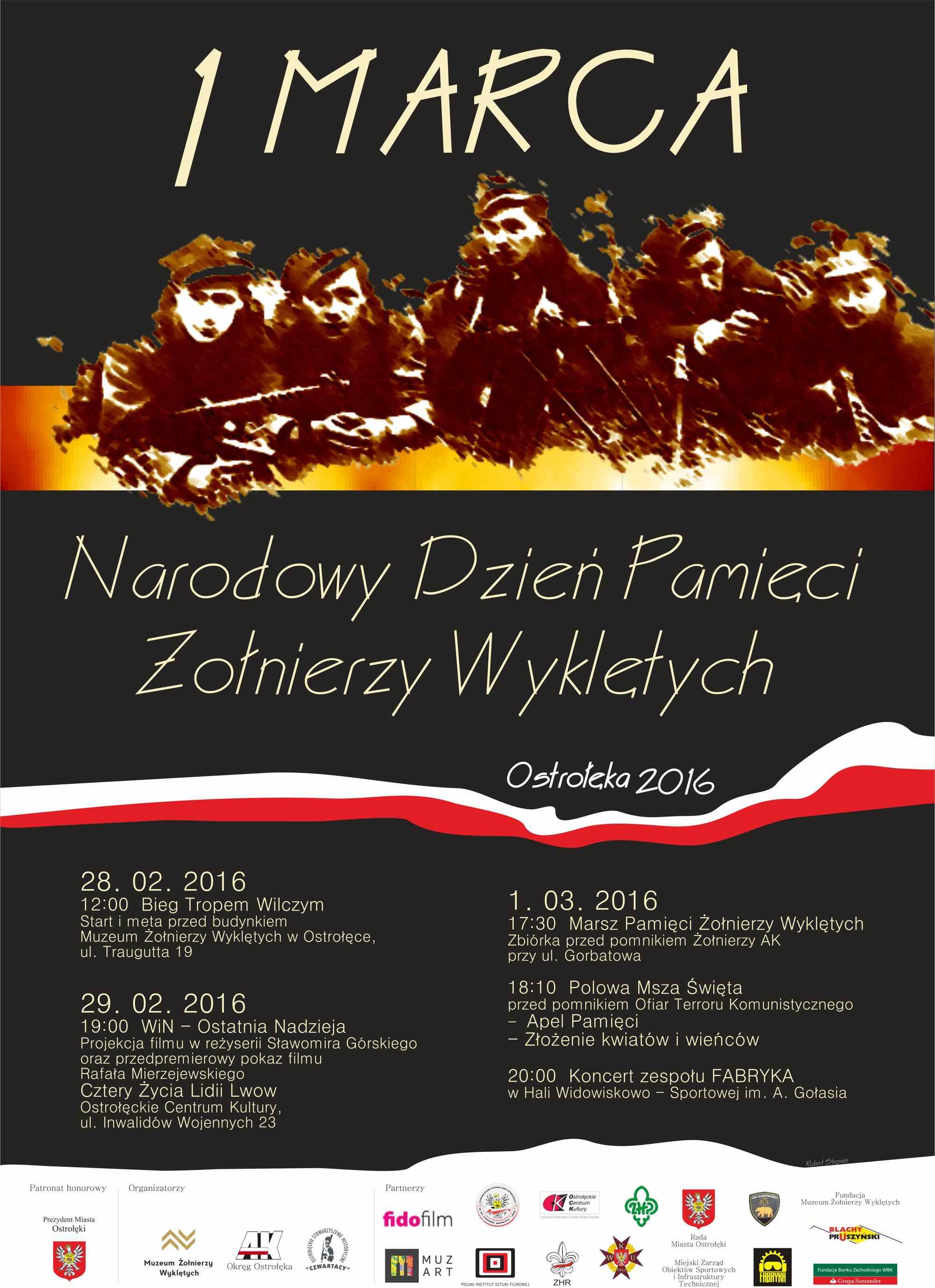 plakat 1 marca obchody świeta w Ostrołęce